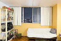 D-1313 Maura Gomez Guevara. The interior livingroom windows of apartments in the Chihuahua building of Tlatelolco. Mario Pani´s Tlatelolco, plaza de las 3 culturas, Mexico DF