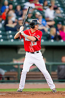 Jeremy Rathjen (13) of the Great Lakes Loons at bat against the Wisconsin Timber Rattlers at the Dow Diamond on May 4, 2013 in Midland, Michigan.  The Timber Rattlers defeated the Loons 6-4.  (Brian Westerholt/Four Seam Images)