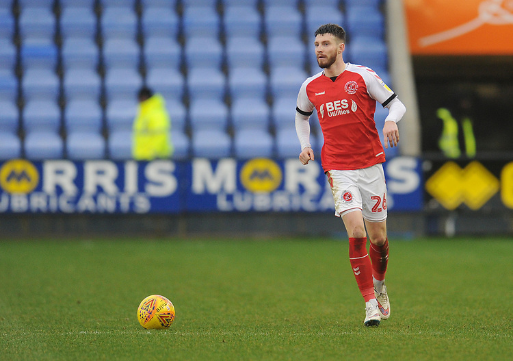 Fleetwood Town's James Husband<br /> <br /> Photographer Kevin Barnes/CameraSport<br /> <br /> The EFL Sky Bet League One - Shrewsbury Town v Fleetwood Town - Tuesday 1st January 2019 - New Meadow - Shrewsbury<br /> <br /> World Copyright © 2019 CameraSport. All rights reserved. 43 Linden Ave. Countesthorpe. Leicester. England. LE8 5PG - Tel: +44 (0) 116 277 4147 - admin@camerasport.com - www.camerasport.com