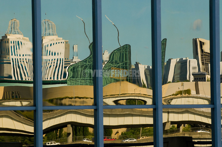 Architectural Detail with Reflections of the Oregon Convention Center, Portland