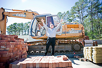 TROSA's founding director Kevin McDonald at the construction site on campus.  They are expanding the facility by building an additional dormitory.
