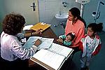 Atendimento em posto de saúde no Sacomã. São Paulo. 1995. Foto de Juca Martins.
