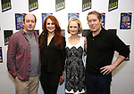 """Liam Craig, Jodie Markell, Barbara Garrick, and Laurence Lau attends the cast Photocall for the Keen Company's Production Of A.R. Gurney's """"Later Life"""" on February 9, 2018 at the Art/NY Bruce Mitchell Studio in New York City."""