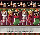 GIORDANO, CHRISTMAS ANIMALS, WEIHNACHTEN TIERE, NAVIDAD ANIMALES, paintings+++++Fireside Pups Boarder,USGIPROV16,#xa#