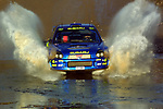 Rally Argentina 2001 Richard Burns makes a splash during leg 2.