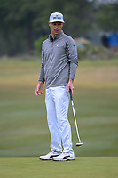 Ben Crane (USA) watches his putt on 1 during Round 3 of the Valero Texas Open, AT&amp;T Oaks Course, TPC San Antonio, San Antonio, Texas, USA. 4/21/2018.<br /> Picture: Golffile   Ken Murray<br /> <br /> <br /> All photo usage must carry mandatory copyright credit (&copy; Golffile   Ken Murray)