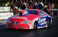 Apr. 27, 2012; Baytown, TX, USA: NHRA pro stock driver Shane Gray during qualifying for the Spring Nationals at Royal Purple Raceway. Mandatory Credit: Mark J. Rebilas-