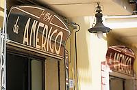 Europe/Italie/Emilie-Romagne/Trattoria del Amerigo : Enseigne REstaurant et épicerie fine