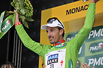 Swiss National Champion Fabian Cancellara (SUI) Team Saxo Bank wins the Prologue Stage 1 and also wears the first Green Jersey of the 2009 Tour de France a 15.5km individual time trial held around Monaco. 4th July 2009 (Photo by Eoin Clarke/NEWSFILE)