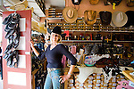 Patti Short, director of sales, in ther store Aloha Cowboy in Makawao, Maui, where cowboy bling abounds.