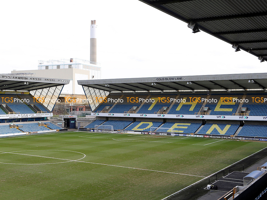 General view of the 'Cold Blow Lane End' at Millwall FC during Millwall vs MK Dons, Sky Bet EFL League 1 Football at The Den on 4th March 2017