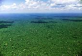 Xingu, Amazon, Brazil. Aerial view of still unbroken rain forest.
