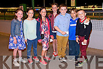 Jennifer Brosnan, Lee Drive Tralee, and David Hughes , Avondale Court, Tralee celebrate their 9th Birthdays with a night at the Dogs at the Kingdom Greyhound Stadium on Saturday Pictured l-r   Rachel Prenderville, Katelyn Brosnan , Jennifer Brosnan, David Hughes, Sorcha Breen, Jamie Williams and John Paul Conway