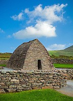 County Kerry, Ireland: Gallarus Oratory on the Dingle Peninsula, an early Christian church built time between the 6th and 9th century.
