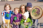 READY: Ready to march in the St Paricksd Day parade in Causeway were the O'neil Family from Clash, Causeway, .Louise, Alisha, Noelle, Mary kate and Gearo?id O'Neill. .