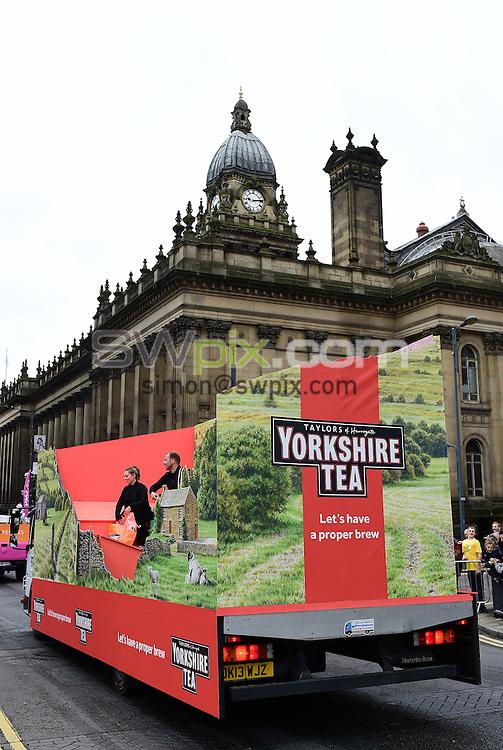 Picture by Alex Broadway/SWpix.com - 05/07/2014 - Cycling - Tour de France 2014 Grand Depart - Stage 1, Leeds to Harrogate - Yorkshire, England - Yorkshire Tea caravan.