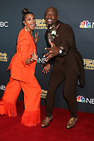 "LOS ANGELES - OCT 21:  Alesha Dixon, Terry Crews at the ""America's Got Talent - Champions"" Finalist Red Carpet at the Sheraton Pasadena Hotel on October 21, 2019 in Pasadena, CA"