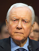 United States Senator Orrin Hatch (Republican of Utah) testifies before the United States Senate Committee on Commerce, Science, and Transportation on the nominations four individuals to be commissioners of the Federal Trade Commission (FTC) on Capitol Hill in Washington, DC on Wednesday, February 14, 2018.<br /> Credit: Ron Sachs / CNP