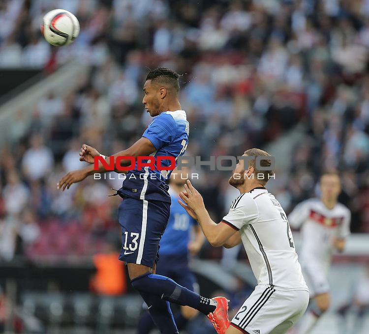 DFB Freundschaftsl&auml;nderspiel, Deutschland vs. USA<br /> Juan Agudelo (USA), Shkodran Mustafi (Deutschland)<br /> <br /> Foto &copy; nordphoto /  Bratic
