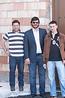 raul perez pereira winemaker eugenio gonzalez rubio and alfredo martinez cuervo co-owners Bodegas Margon , DO Tierra de Leon , Pajares de los Oteros spain castile and leon