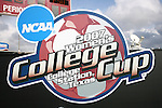 09 December 2007: College Cup logo signboard. The University of Southern California Trojans defeated the Florida State University Seminoles 2-0 at the Aggie Soccer Stadium in College Station, Texas in the NCAA Division I Womens College Cup championship game.
