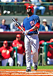 4 March 2010: Washington Nationals' outfielder Elijah Dukes at bat during the Nationals-Astros Grapefruit League Opening game at Osceola County Stadium in Kissimmee, Florida. The Houston Astros defeated the Nationals split-squad 15-5 in Spring Training action. Mandatory Credit: Ed Wolfstein Photo