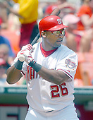 Washington, D.C. - July 4, 2005 --  Washington Nationals left fielder Marlon Byrd (26) takes his turn at bat in game action against the New York Mets at RFK Stadium in Washington, D.C. on July 4, 2005.  .Credit: Ron Sachs / CNP.(RESTRICTION: NO New York or New Jersey Newspapers or newspapers within a 75 mile radius of New York City)