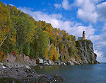 Split Rock Lighthouse SP, MN  <br /> Split Rock Lighthouse stands above Lake Superior in early fall