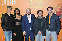 "07 April 2019 - New York, New York - Timothy Olyphant, Zoe Saldana, Chris Butler, Zach Galifianakis and Hugh Jackman at the New York Premiere of ""MISSING LINK"", held at Regal Cinemas Battery Park II.<br /> CAP/ADM/LJ<br /> ©LJ/ADM/Capital Pictures"