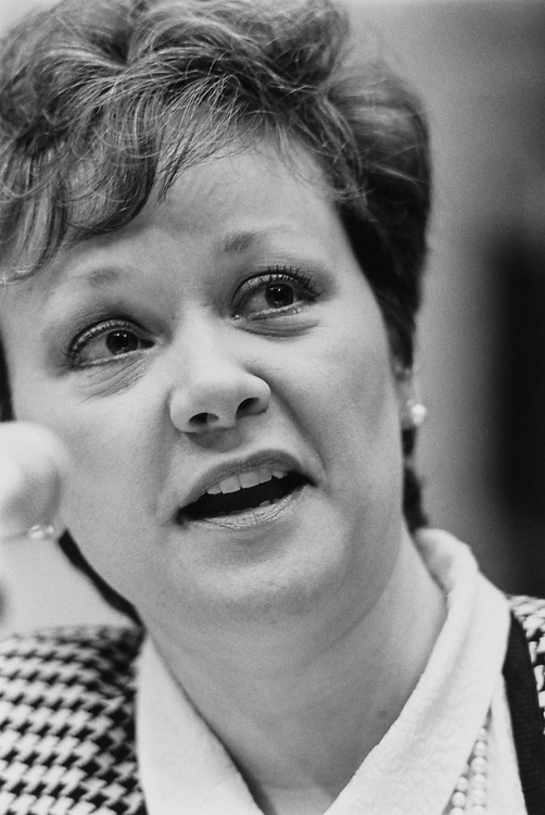 Rep. Jill Long Thompson, D-Ind. on Mar. 19, 1991. (Photo by Maureen Keating/CQ Roll Call)