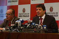 SAO PAULO 19 DE JUNHO DE 2013  - Coletiva de imprensa realizada nesta quarta-feira(19) com o prefeito de Sao Paulo Fernando Haddad so manifestacoes do Passe Livre. (Foto: Amauri Nehn/Brazil Photo Press)