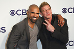 Shemar Moore and Kenny Johnson arrive at the CBS Upfront at The Plaza Hotel in New York City on May 17, 2017.