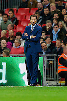 Gareth Southgate, Interim England Manager, during the FIFA World Cup qualifying match between England and Malta at Wembley Stadium, London, England on 8 October 2016. Photo by David Horn / PRiME Media Images.