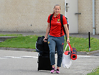 20170725 - TILBURG , NETHERLANDS :  Belgian Lenie Onzia pictured going back to Belgium as the Belgian national women's soccer team Red Flames was not able to qualify for the quarter finals after a loss against The Netherlands , on Tuesday 25 July 2017 in Tilburg . The Red Flames finished on 3 th place in Group A at the Women's European Championship 2017 in the Netherlands. PHOTO SPORTPIX.BE | DAVID CATRY