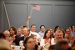 Fans listen to Glenn Beck speak at a private luncheon, Wednesday, April 15, 2009, in San Antonio. (Darren Abate/pressphotointl.com)