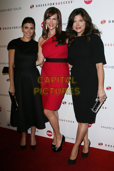 Jamie-Lynn Sigler, Sara Rue and Tiffani Thiessen.3rd Annual Give & Get Fete benefiting Dress for Success Worldwide-West held at The London West Hollywood Hotel, West Hollywood, California, USA..November 7th, 2011.full length dress red one shoulder belt black.CAP/ADM.©AdMedia/Capital Pictures.