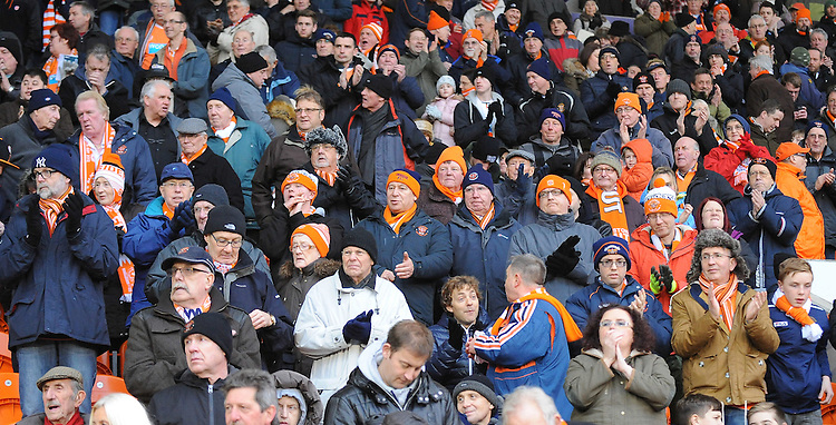 Photographer Kevin Barnes/CameraSport<br /> <br /> Football - The Football League Sky Bet Championship - Blackpool v Birmingham City - Saturday 6th December 2014 - Bloomfield Road - Blackpool<br /> <br /> &copy; CameraSport - 43 Linden Ave. Countesthorpe. Leicester. England. LE8 5PG - Tel: +44 (0) 116 277 4147 - admin@camerasport.com - www.camerasport.com