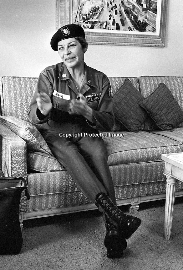 Actress Martha Raye in San Francisco. <br />