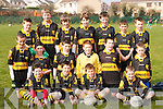 The Crokes Team who competed in an u13 GAA Blitz at Kerins ORahillys grounds on Saturday morning. Front row l-r: Jason Lyne, Tony Brosnan, Laurence Burns, Gavin OShea. Middle row l-r: Gearoid Coughlin, Diarmuid Galvin, Keith Flynn, Johnny OLeary, Johnny Courtney, Micheal Sexton. Back row l-r: Micheal Sheehan, Will Horan, Aoidhan Burns, Eric OConnor, Cian O Lionard, Micheal OLeary, Niall ORiordan..
