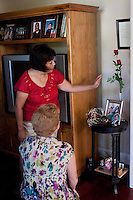 Susan Amaya joined the Mothers of an Angel Network after her son died. She maintains a homemade shrine in the room where her son worked on his computer and studied.