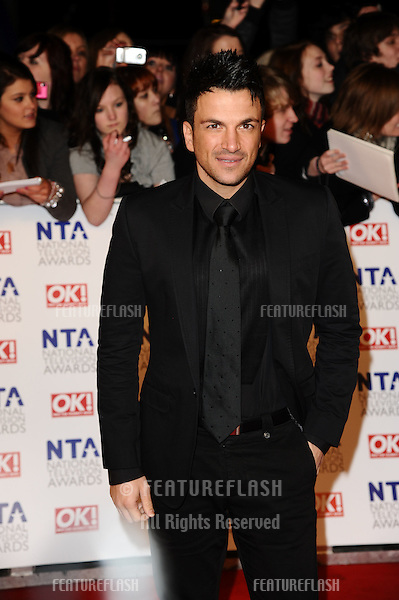 Peter Andre arriving for the National Television Awards 2011, at the O2, London. 26/01/2011  Picture By: Steve Vas / Featureflash
