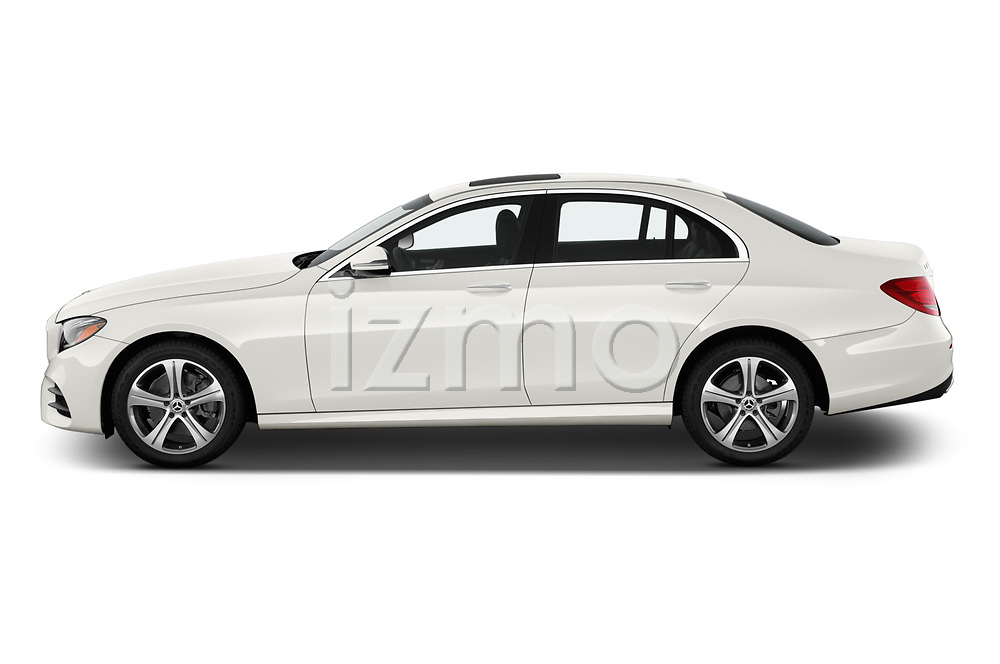 Car driver side profile view of a 2019 Mercedes Benz E-class 300 4 Door Sedan