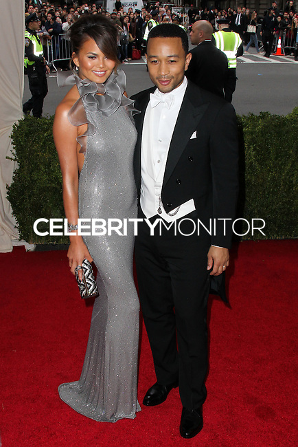 "NEW YORK CITY, NY, USA - MAY 05: Chrissy Teigen, John Legend at the ""Charles James: Beyond Fashion"" Costume Institute Gala held at the Metropolitan Museum of Art on May 5, 2014 in New York City, New York, United States. (Photo by Xavier Collin/Celebrity Monitor)"