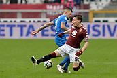 18th March 2018, Stadio Olimpico di Torino, Turin, Italy; Serie A football, Torino versus Fiorentina; Cristiano Biraghi fouls Andrea Belotti