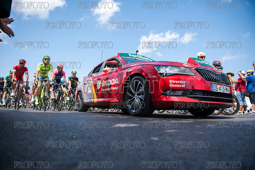 Castellon, SPAIN - SEPTEMBER 7: Official car during LA Vuelta 2016 on September 7, 2016 in Castellon, Spain