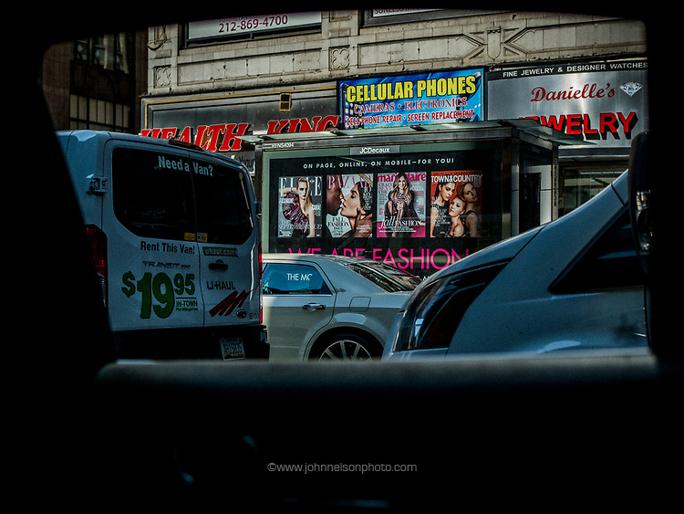 From the taxicab window, NYC