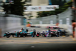 Oliver Turvey of Nextev Nio team (L) during the first race of the FIA Formula E Championship 2016-17 season HKT Hong Kong ePrix at the Central Harbourfront Circuit on 9 October 2016, in Hong Kong, China. Photo by Victor Fraile / Power Sport Images