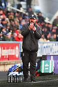 17th March 2018, The John Smiths Stadium, Huddersfield, England; EPL Premier League football, Huddersfield Town versus Crystal Palace; David Wagner Manager of Huddersfield Town encourages his players