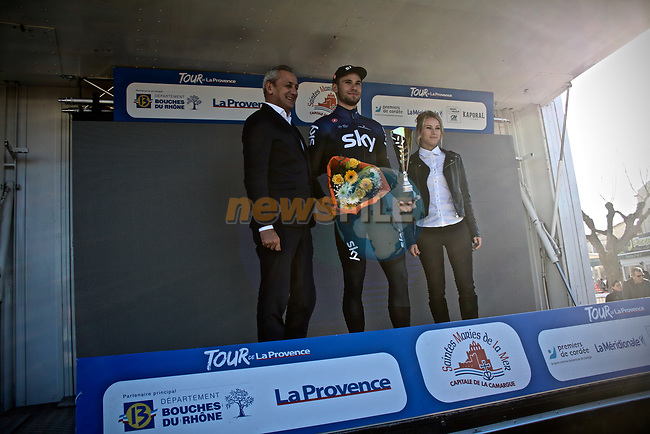 Reigning World Champion for Individual Pursuit, Filippo Ganna (ITA) Team Sky wins Stage 1 of the 2019 Tour de La Provence an individual time trial of 8.9km around Saintes-Marie-de-la-Mer, France.<br /> Picture: Shift Media/Kim Caritoux | Cyclefile<br /> <br /> <br /> All photos usage must carry mandatory copyright credit (© Cyclefile | Shift Media/Kim Caritoux)