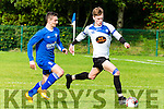 Daniel Taylor Kenmare sprints past Will Courtney Killarney Athletic during their league clash in Woodlawn on Sunday